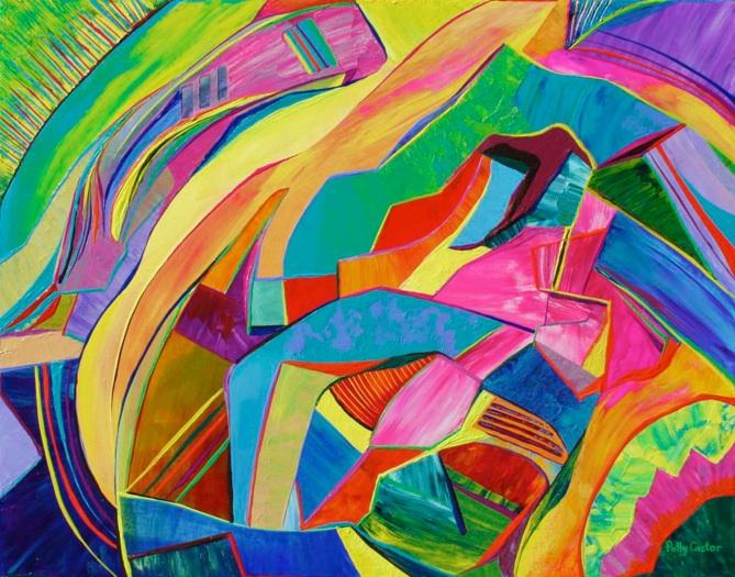 Inside/Outside (oil) by Polly Castor