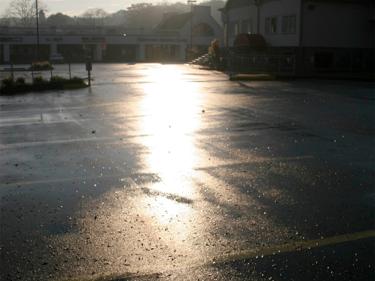 Polly Castor Photography: Rain on the Parking Lot