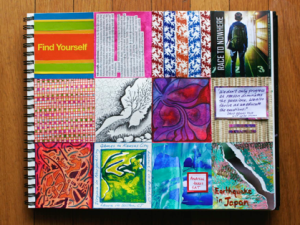 17th Page Done in my 3rd Box-A-day Art Journal