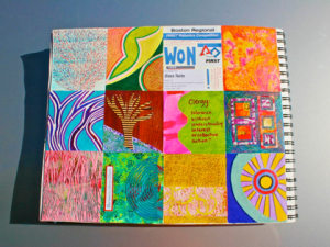 20th Page Done in my 3rd Box-A-day Art Journal