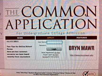 College Applications process