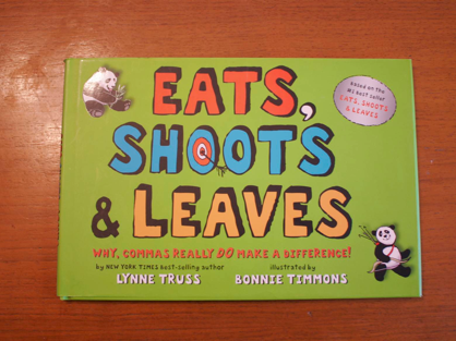punctuation matters, eats shoots and leaves book