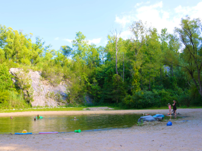 Quarry swimming