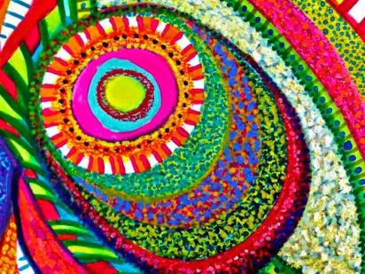 Polly Castor art, gouache paintings