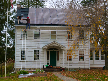 solar is installed