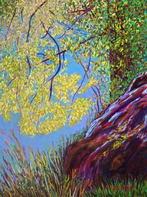 Polly Castor pastel landscape