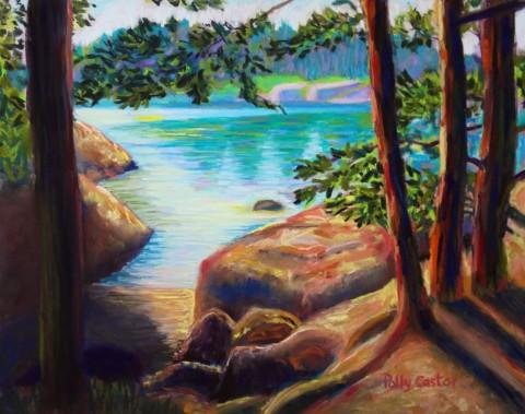 Pastel Landscape by Polly Castor