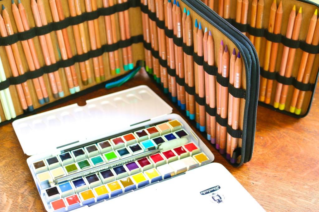 travel art materials, travel journaling