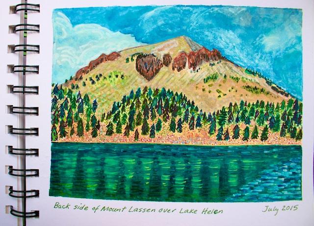 artist journal watercolors, California National Park watercolors