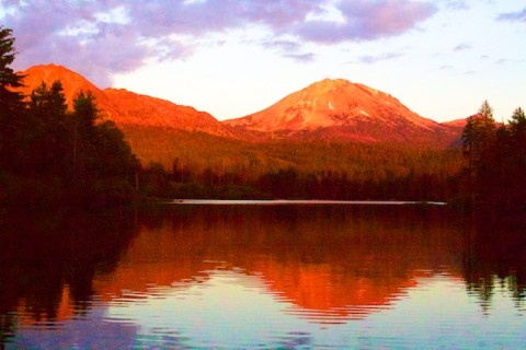 Lassen at sunset