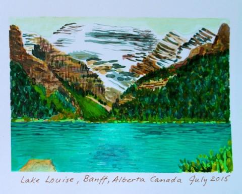 Watercolors in Artist Journal