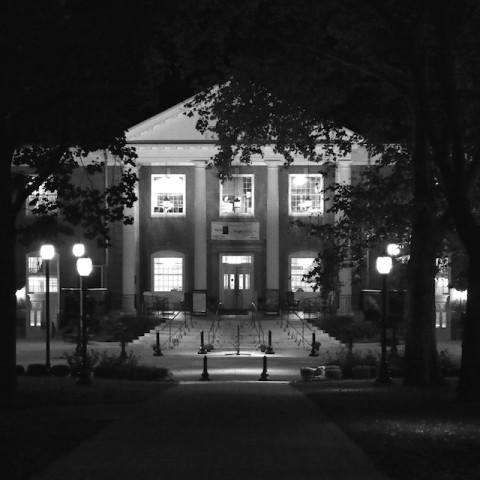 Juniata campus at night
