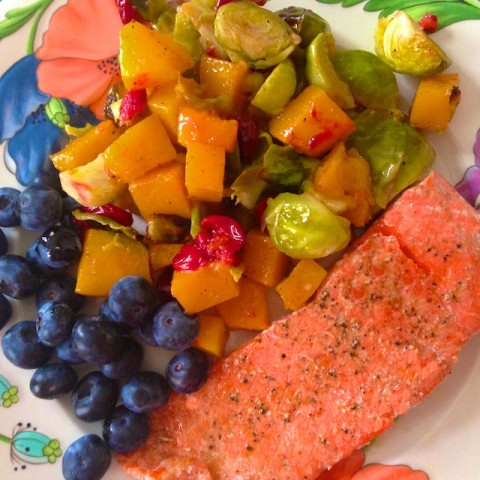 roasted butternut squash brussels sprouts and cranberries, side dish recipes