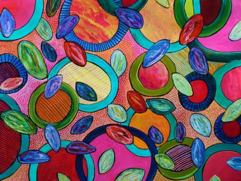 Under the Microscope, abstract art by Polly Castor