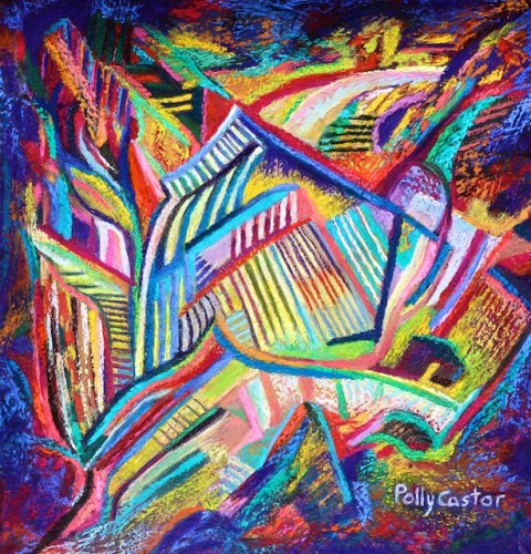 Rubaiyat (a Sufi poem) abstract pastel by Polly Castor
