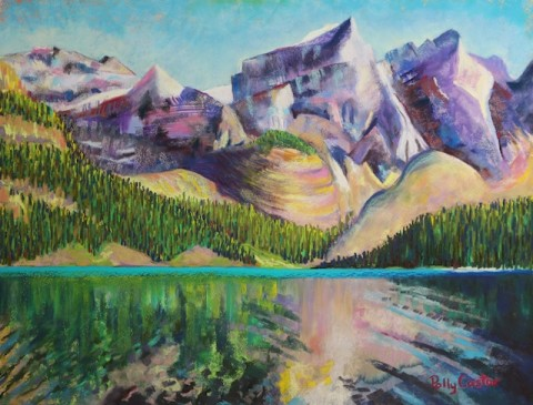 Painting of Moraine Lake