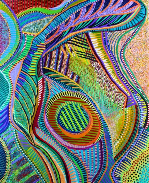 Whose Seed is Within Itself (acrylic) by Polly Castor