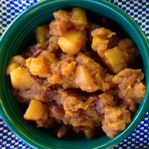 Recipe Crockpot Butternut Squash, Apples, and cranberries