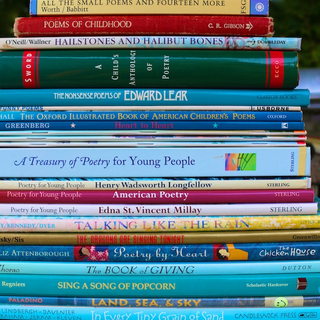 Best poetry books for children, best poetry books for young adults, best poetry books for young people