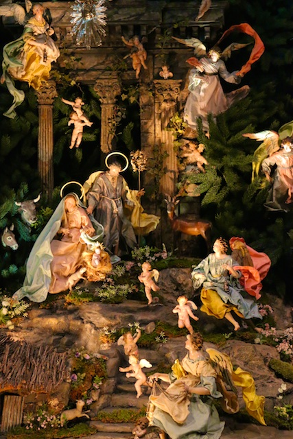 Photos of Christmas creche at the MET
