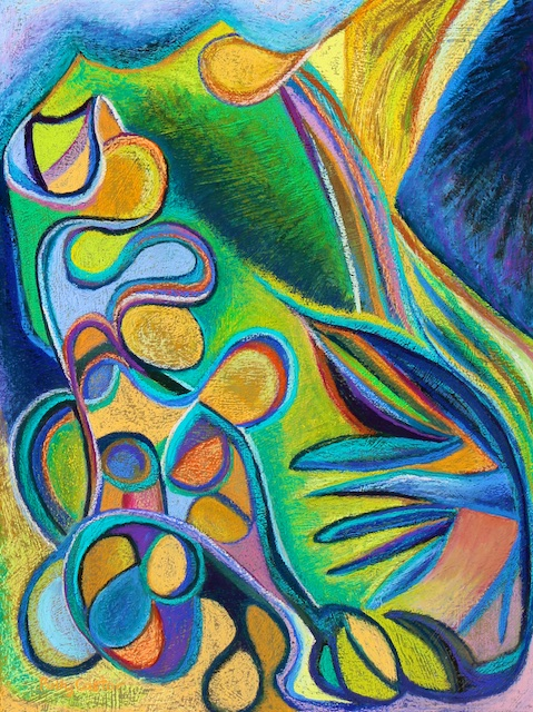 Meandering Curiosity (pastel) by Polly Castor
