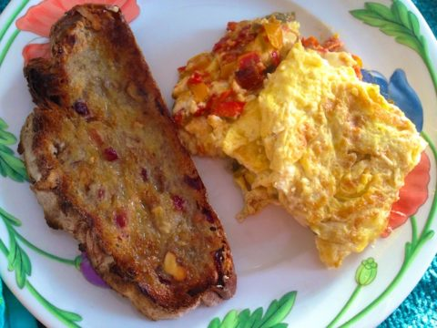 recipe: Hot Pepper and feta omelette