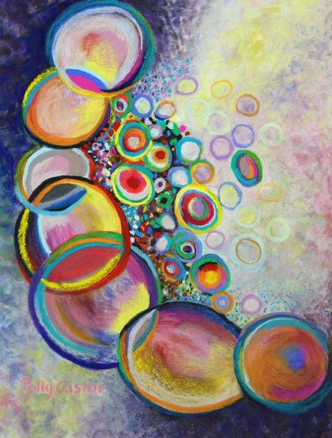 Seven Truths (abstract pastel) by Polly Castor