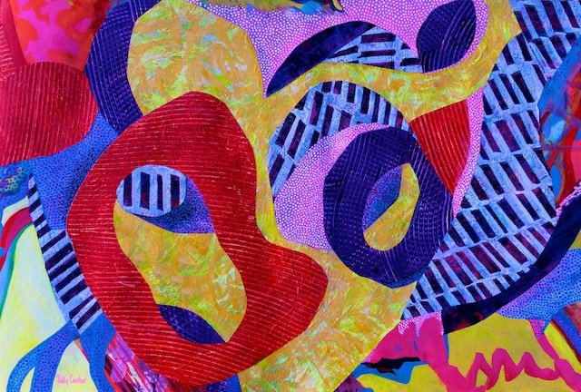 Do-Wop (monoprint collage) by Polly Castor