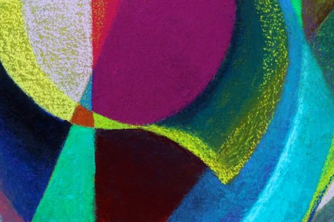Detail of Searching for Truth (pastel) by Polly Castor