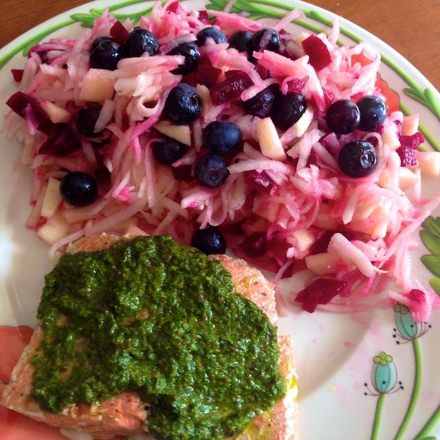 Kohlrabi Salad with Beets and Fruit