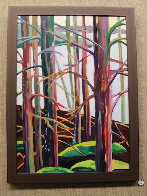 Among the Spruces (acrylic) by Claudia Van Nes