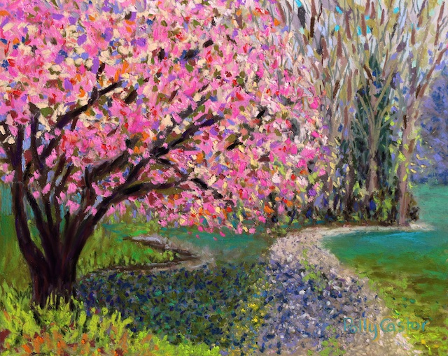 Spring Tree at New Pond Farm (pastel) by Polly Castor