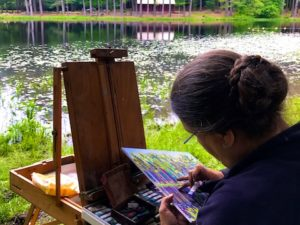 Lovely Day Plein Air Painting at Chatfield Hollow State Park