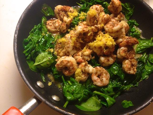 Spiced Coconut Shrimp with Spinach (Recipe) | Polly Castor