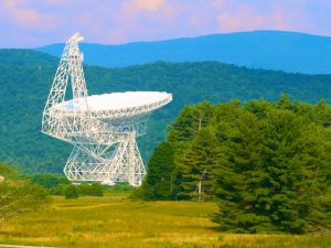 Our Younger Daughter at the Green Bank National Radio Telescope