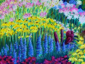 New Pastel Painting: Amaranth in the Gardens at Hollandia