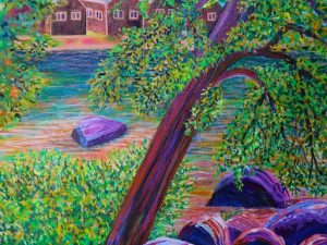 Leaning Tree at Camp Newfound (New Landscape Painting)