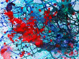 Abstract Painting Exercise: Pouring, Spraying, Throwing Paint