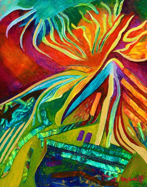 Psalm 91 (oil) by Polly Castor