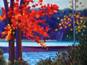 Two New Autumn Landscape Paintings in Pastel