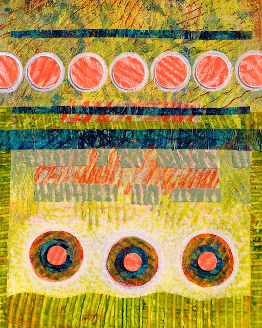 Alliance (monoprint collage) by Polly Castor