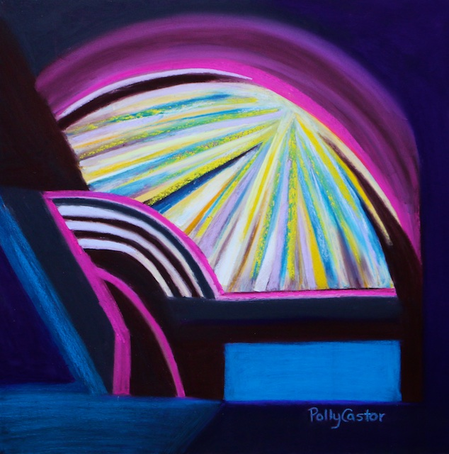 Healed from the Bed of Pain (pastel) by Polly Castor