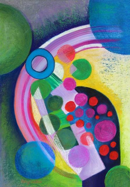 Sun Spots (pastel) by Polly Castor