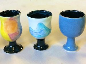 Ceramic Goblets and Tumblers our Daughter is Working On