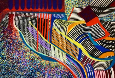 Building on Air (pastel) by Polly Castor