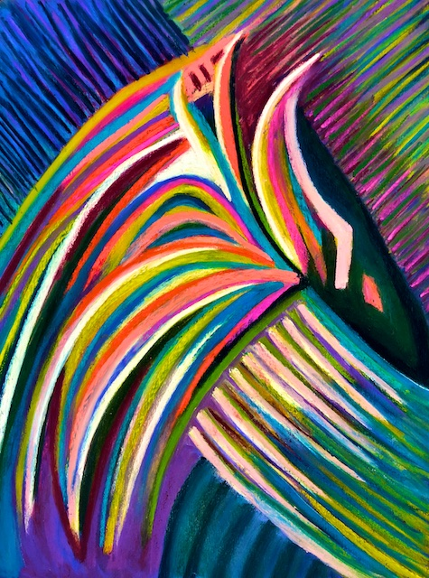 Quetzal Plumage (pastel) by Polly Castor