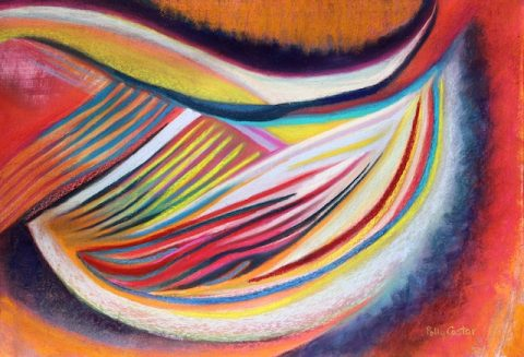 Two New Abstract Paintings in Pastel