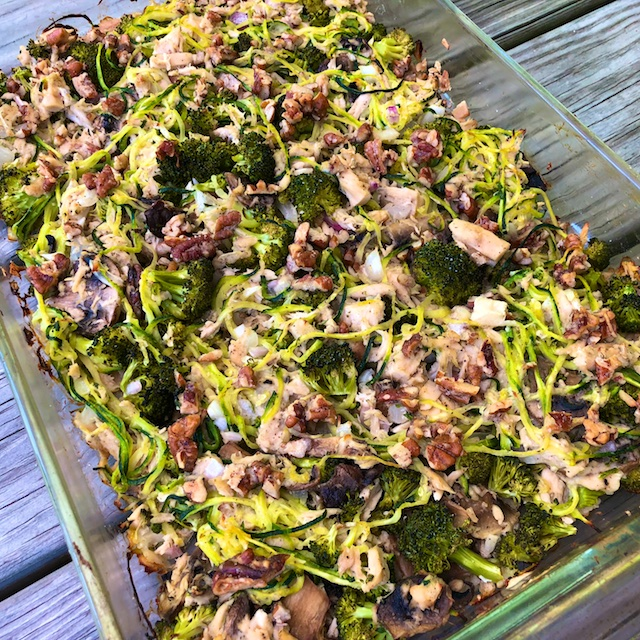 Zucchini Noodle Tuna Casserole (Recipe)