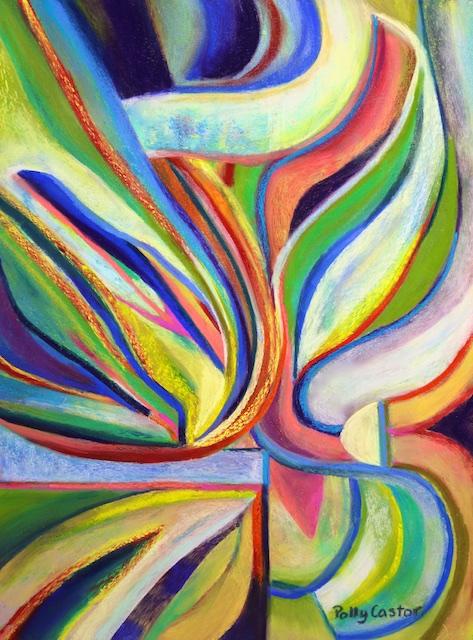Hybridization (pastel) by Polly Castor