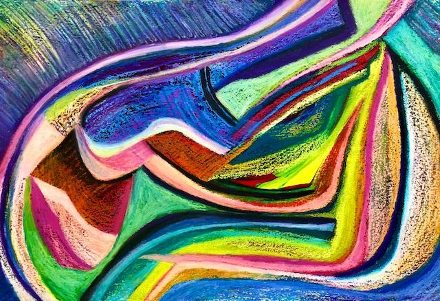 Hibernation Over (oil pastel) by Polly Castor